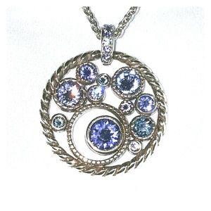 Brighton Purple Blue Rhinestone Necklace